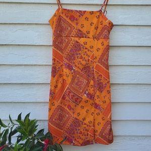 My Michelle Retro Orange Dress
